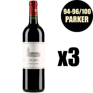 VIN ROUGE X3 Château Lagrange 2016 75 cl AOC Saint-Julien  V