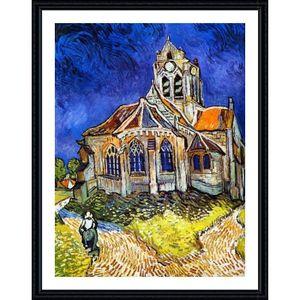 TABLEAU - TOILE Church At Auvers Vincent Van Gogh Black POSTER ENM