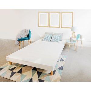 sommier 140x190 cm achat vente pas cher cdiscount. Black Bedroom Furniture Sets. Home Design Ideas