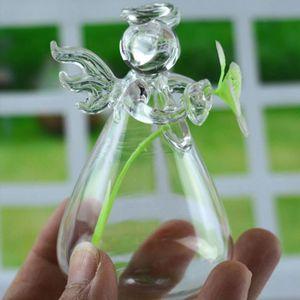 VASE - SOLIFLORE Verre Clair Ange Forme Fleur Pot Arrangement Vaiss