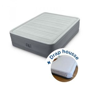 LIT GONFLABLE - AIRBED Pack Lit gonflable Intex PremAire Fiber-Tech 203 x