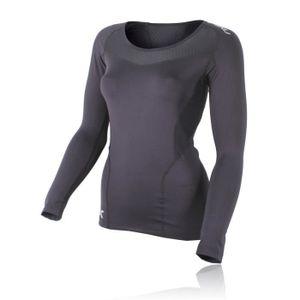 T-SHIRT DE COMPRESSION 2Xu Base Compression Femme Manches Longues T-Shirt