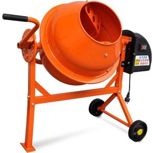 BÉTONNIÈRE Bétonnière électrique en acier orange 63 L 220 W