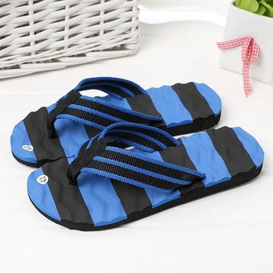 Pantoufles Flip Sandales De Hommes D'intérieur D'été Plage Pour flops Chaussures Extérieures Ljj80309874bu Bleu KcJ1uT35lF