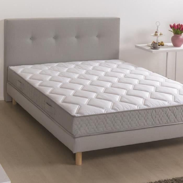 lit avec sommier et matelas140x190 tete de lit achat vente pas cher. Black Bedroom Furniture Sets. Home Design Ideas