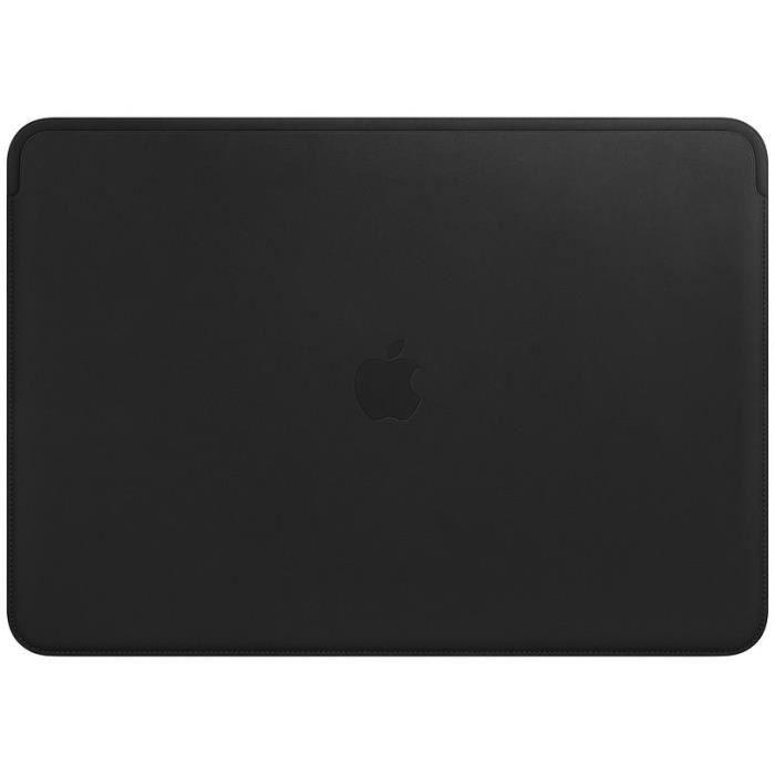 Housse en cuir pour MacBookPro 15pouces- Noir
