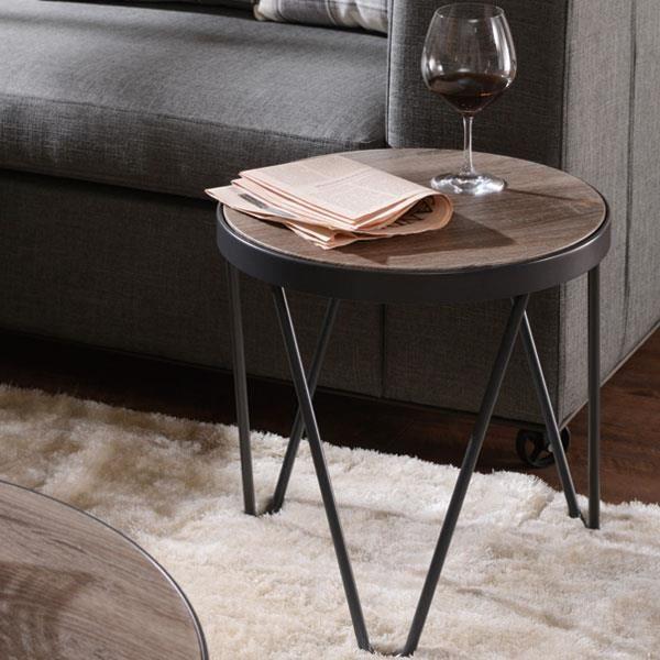 Ottmar Petite Table Basse En Bois Avec Base En Métal Pour Chambre