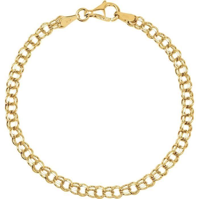 Bracelet en or jaune massif 14 carats pour Bracelet 7 Motif
