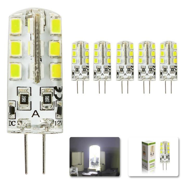 Bright Blanc Froid 3w 24 2835 D'énergie 7000k Dc 12v 260lumen Lampe G4 Smd 6000 5x Tres Économie Spotlight Ampoule Led D29HIWE