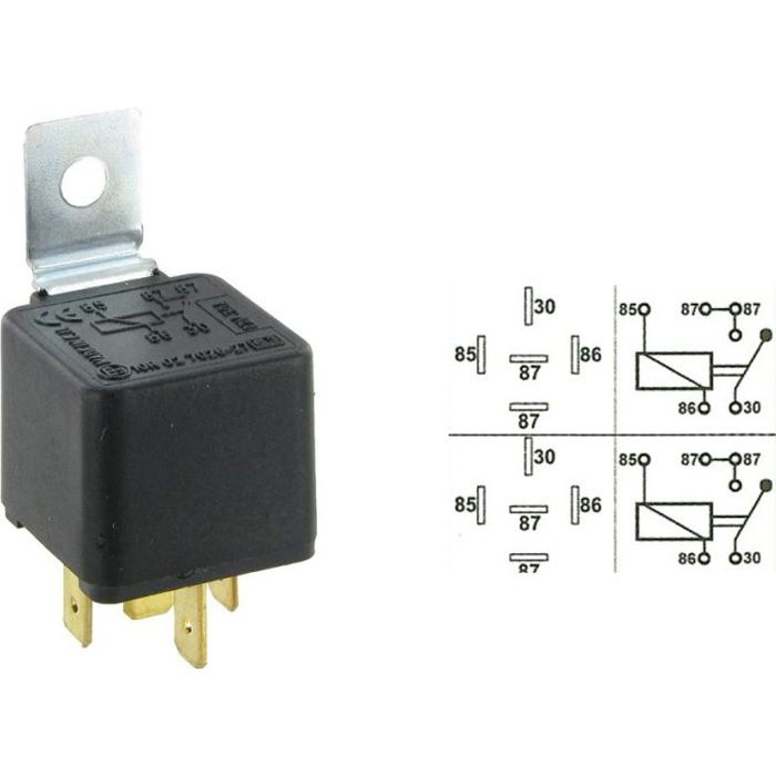 relais universel 12 v 30 a 5 plots achat vente relais circuit auto relais universel 12 v 30. Black Bedroom Furniture Sets. Home Design Ideas
