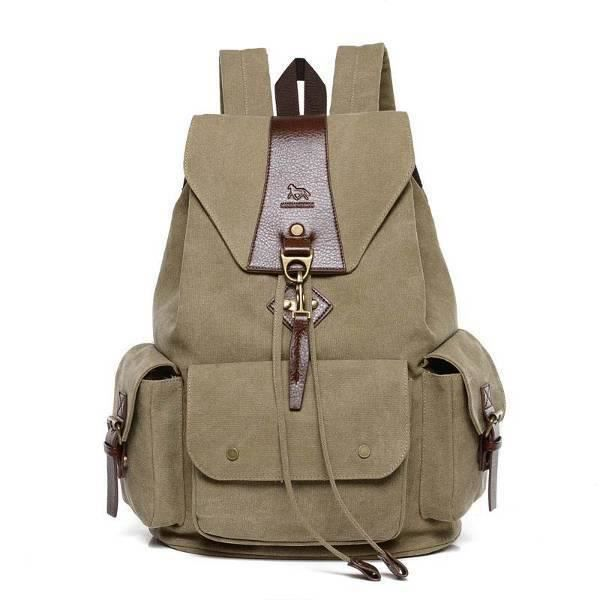 Hommes Canvas Backpack Grand-8719178881350