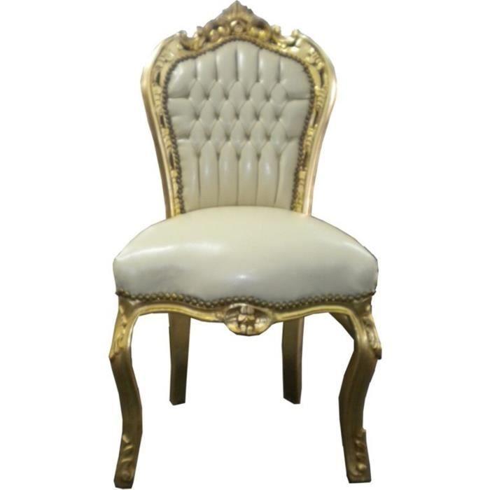 Dîner Casa Padrino Baroque Chaise Crème Or Meubles Achat