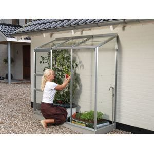 serre de jardin adossee alu et verre achat vente serre de jardinage serre de jardin adossee. Black Bedroom Furniture Sets. Home Design Ideas