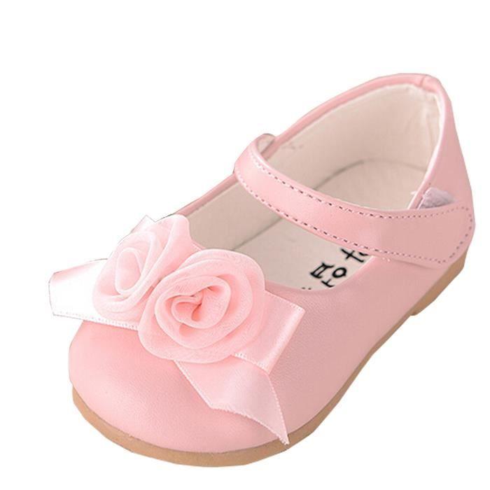 Chaussure Marche Enfant Bébé Fille Cuir Synthétique Fleur Ballerine Antidérapant WwWGhEW