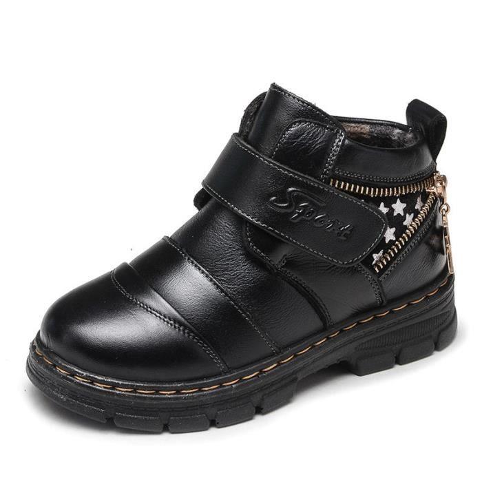 Bottes Enfants Chaussures Garçon Haute Chaussures cuir QB2hIWF