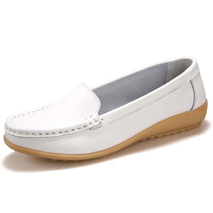 Genuine Leather Driving Shoes Casual Loafer Flats Boat Shoes JGIJJ Taille-38 1-2
