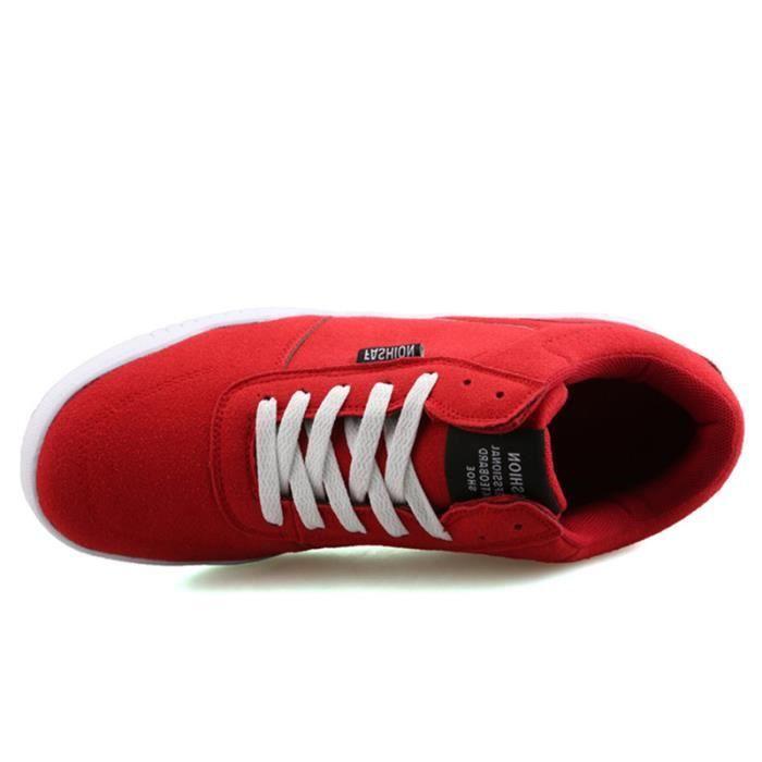 Chaussures De Sport Pour Femme en daim Textile De Course Casual JXG-XZ127Rouge37