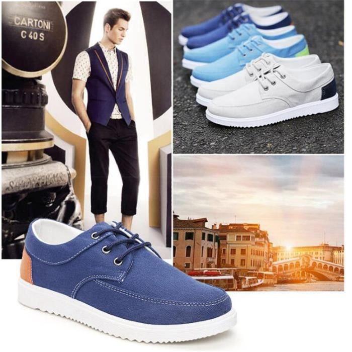 Homme Sneakers Nouvelle Mode Poids Léger Grande Taille Hommes Chaussure De Marque De Luxe Antidérapant Chaussures de sport SzYZWhpBQR