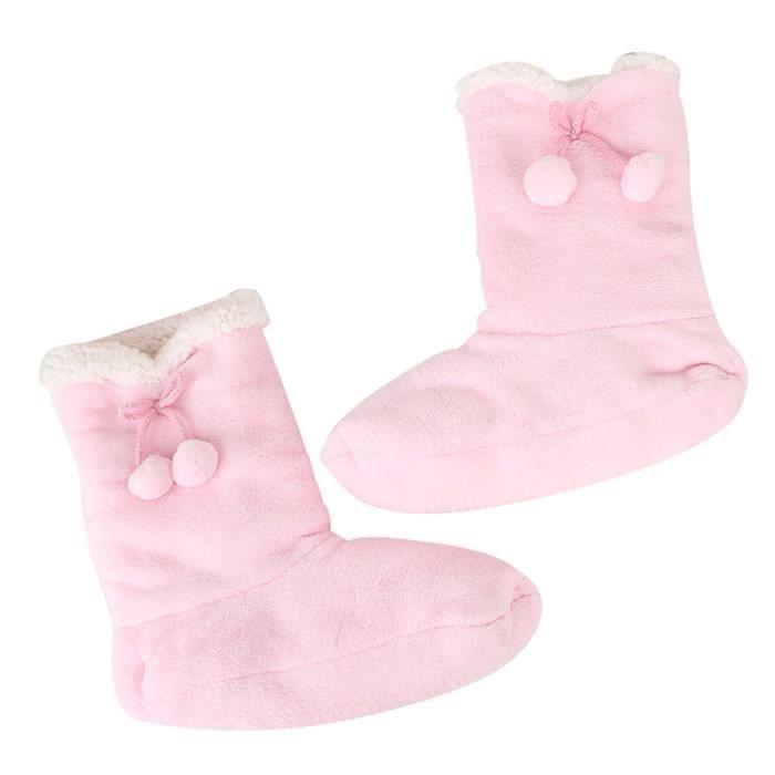 Sidneyki®Femmes dames coton chaud pantoufles d'intérieur doux en peluche de noël chaussures F WE690 aOlNtUOz
