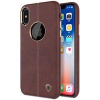 HOUSSE TABLETTE TACTILE Coque Marron Pour Iphone X Style Crazy Horse En Cu