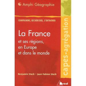 LIVRE GÉOGRAPHIE La France et ses régions, en Europe et dans le mon