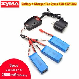 DRONE  3 Batteries 2500MAH+7.4V Kit Chargeur+1V3 Câble p