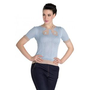SOMMIER pull style vintage bleu taille S pin up rockabilly