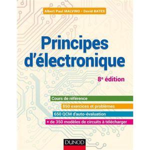 LIVRE HISTOIRE SCIENCES Livre - principes d'électronique ; cours et exerci