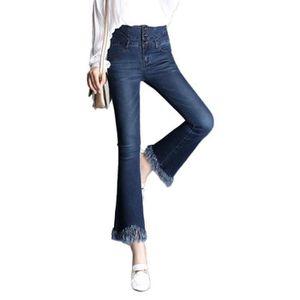d98ebebd98ec6 JEANS Jeans Évasé 7-8 Femme Taille Haute Stretch Finitio