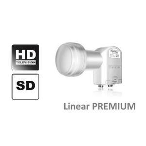 TÊTE LNB LNB TWIN 0.1dB 2 sorties Ultra HD 3D