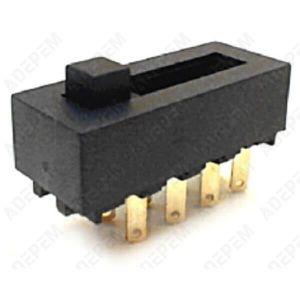 HOTTE Interrupteur curseur moteur 8 cosses pour Hotte Ro