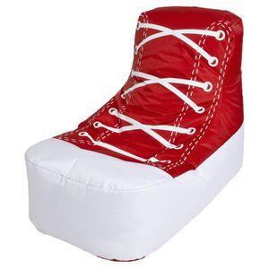 pouf enfant chuck rouge achat vente pouf poire. Black Bedroom Furniture Sets. Home Design Ideas