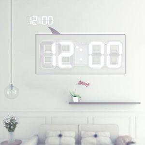HORLOGE - PENDULE LED Horloge numérique murale 3 niveaux de luminanc