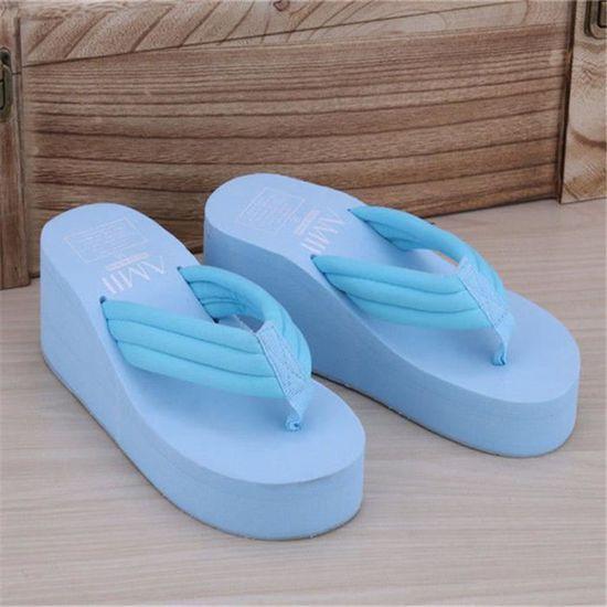 La Sandale Rous Croissante Chaussures Pantoufles Femmes Femme D'aération Respirabilité Pour Hauteur bIfY7vg6y