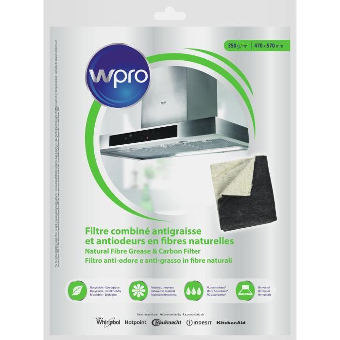 WPRO NCF351 Filtre combiné antigraisses/antiodeurs