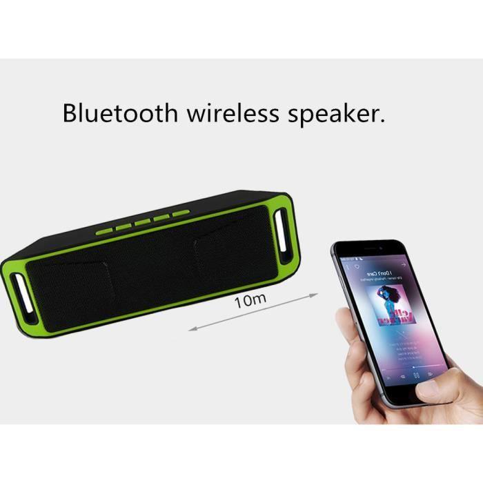 Bluetooth Mini Portable Sans Fil Haut-parleur Stéréo Récent Tf Usb Fm Mic *w469