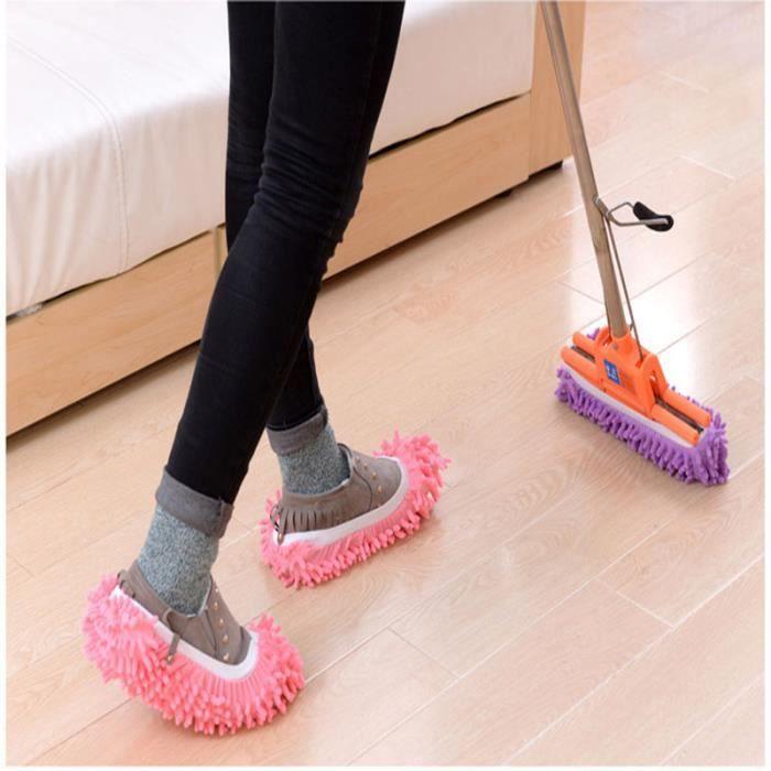 Housse de chaussure Elastic Pantoufles Parfait pour nettoyer les poils de poussière 1 Pairs v6gL0