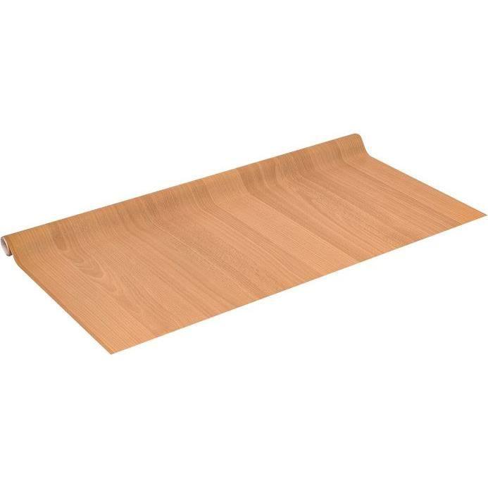 Adhésif bois   Hêtre rouge   Dim. 0,45 x 2 m   Achat / Vente