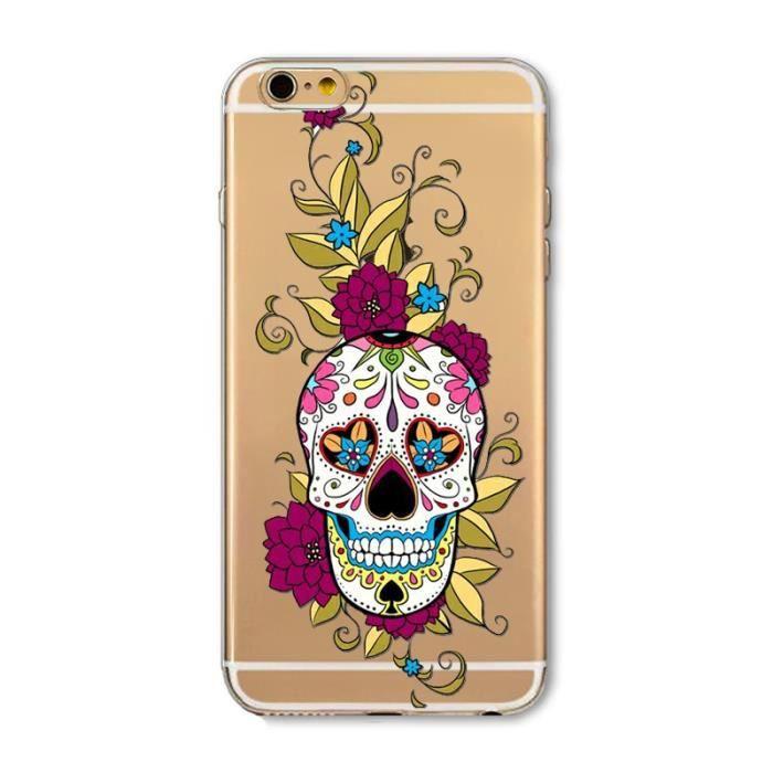 coque iphone 6 tete de mort mexicaine