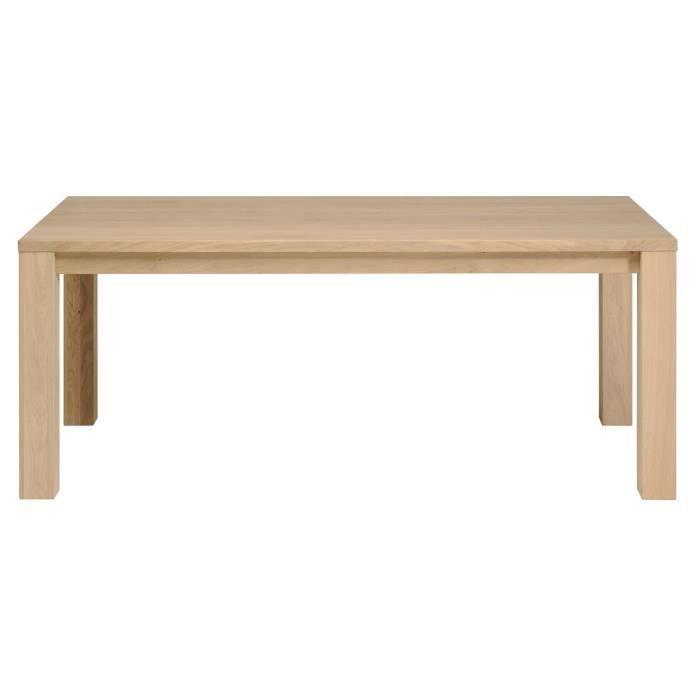 HANNA Table L180 cm en chêne massif - Achat / Vente table à manger ...