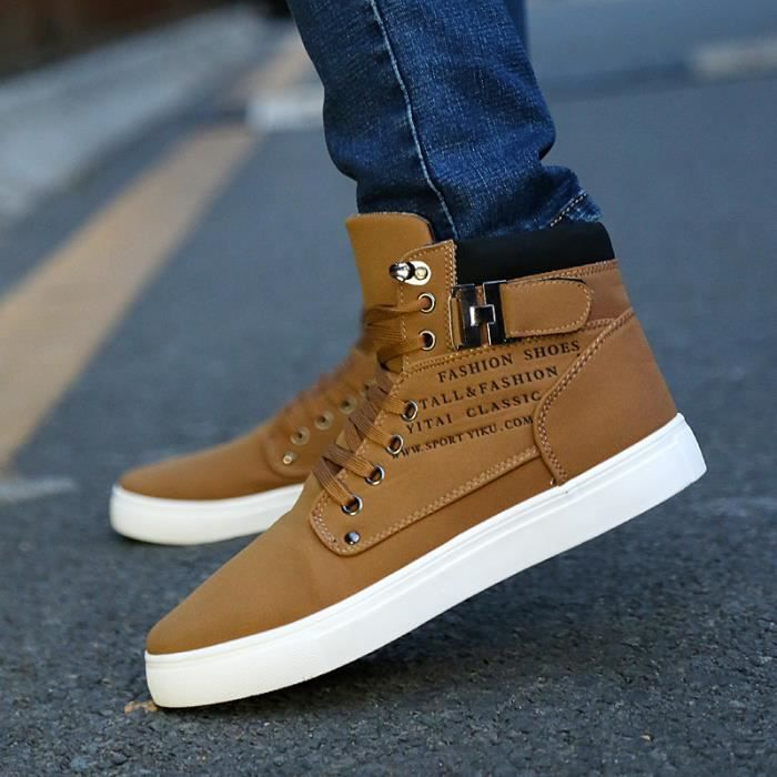 Automne r tro casual Chaussures montantes homme...