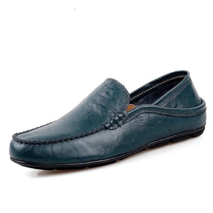 chaussure homme En Cuir Loafer Nouvelle Mode 2017 ete chaussures Marque De Luxe Confortable Moccasin hommes Grande