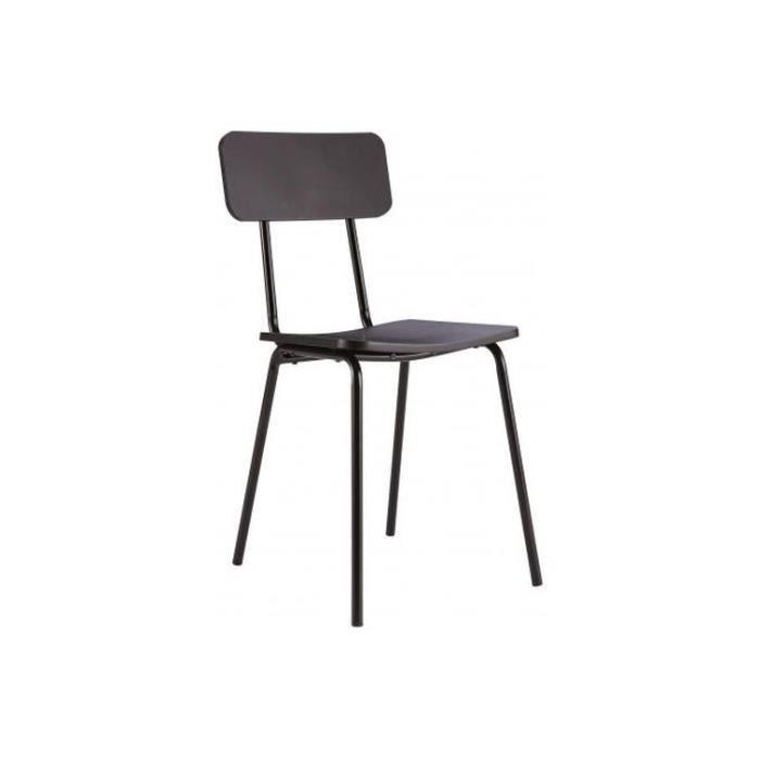 Chaise Design Noire Mika Achat Vente Chaise Noir Soldes Dès