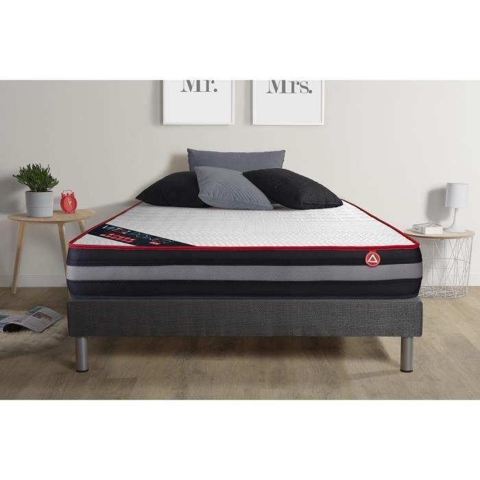 sommier et matelas en 140x200. Black Bedroom Furniture Sets. Home Design Ideas