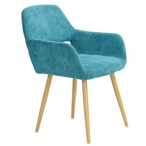 Chaise bleu turquoise achat vente pas cher for Chaise bleu turquoise