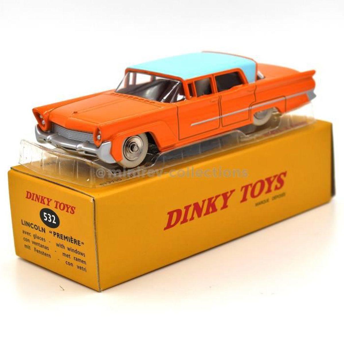 Atlas Dinky Toys 532 Lincoln Première Orange Toit Bleu