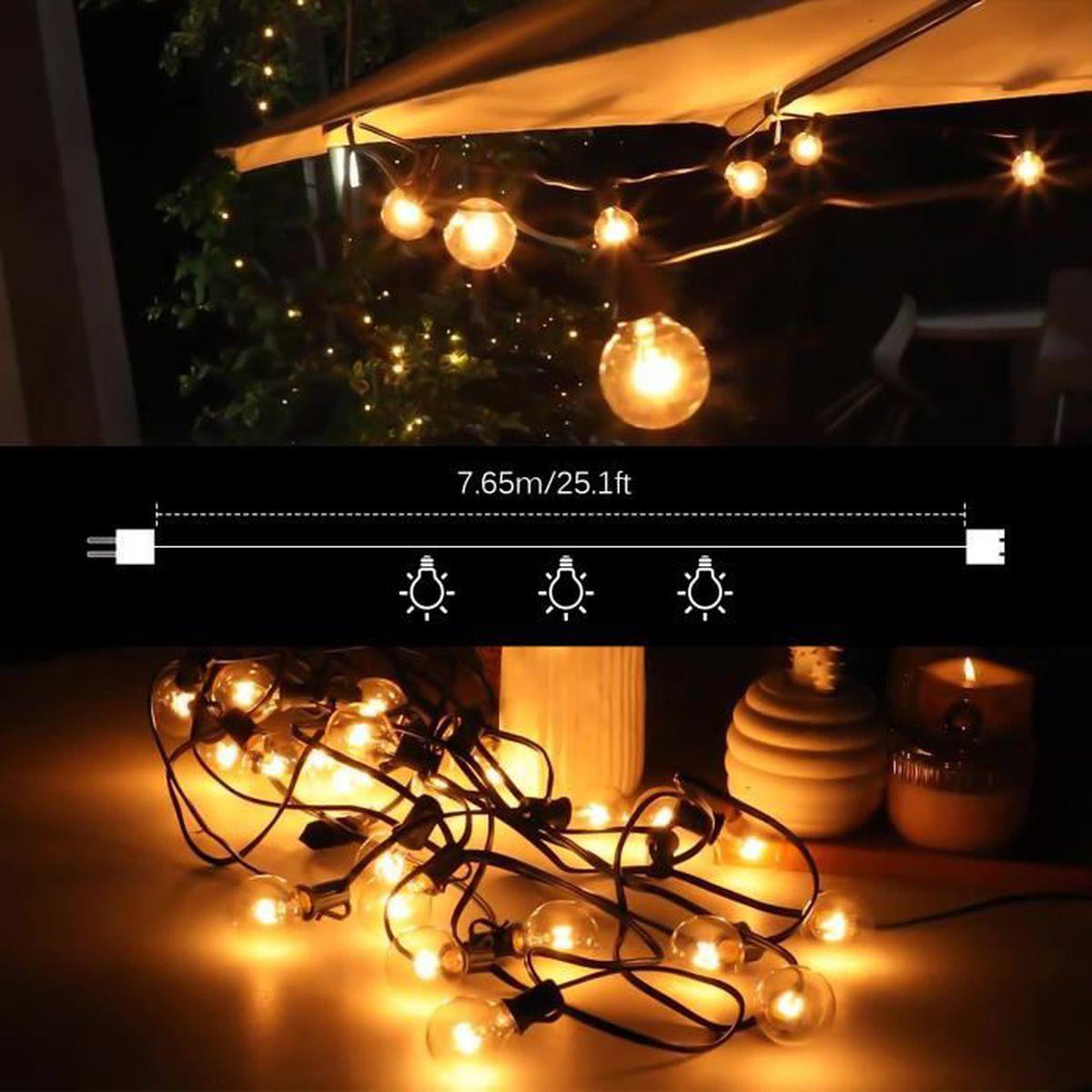 lumière de corde extérieure ampoule rétro lumières de chaîne