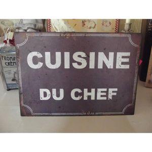 Plaque metal vintage cuisine achat vente plaque metal for Plaque emaillee ancienne cuisine