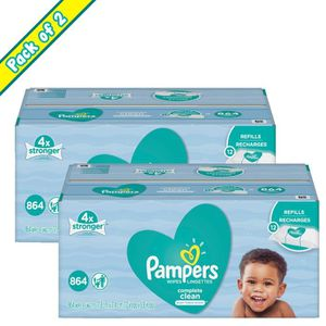 COUCHE Pack of 2 Pampers Complete Clean Dermatologist Tes