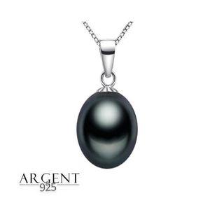 8bc5cfcec78 SAUTOIR ET COLLIER Collier Femme Pendentif Perle de Tahiti Argent 925